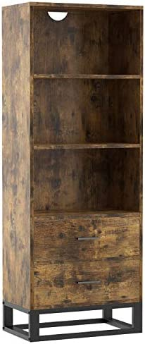 IRONCK Industrial Bookcase and Bookshelf 4 Tier