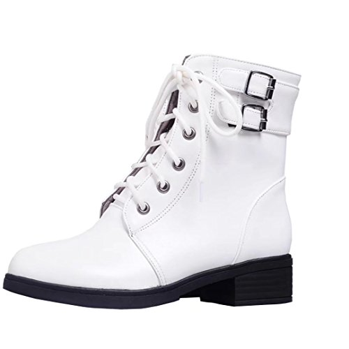 AIYOUMEI Women's Classic Boot White ePpecvq1f