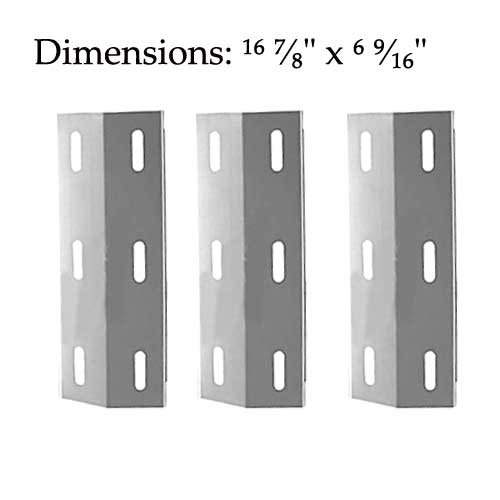 Ducane 3040042, 3040043, 30558501, 3100, 3200, 3400, 4100, 4200, 4400, Home Depot S3200, S5200 (3-PACK) Stainless Steel Heat Shield