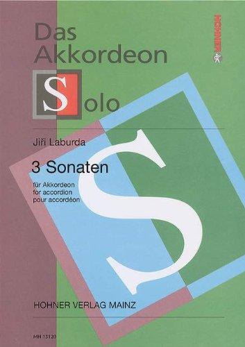 Partition classique SCHOTT LABURDA J. - 3 SONATAS - ACCORDEON Autre clavier