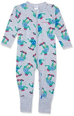 Bonds Unisex Baby Cotton Blend Zip Wondersuit Aliskater New Grey Marle, 3 (24-36 Months)