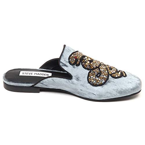 F1010 Blu Shoe Azzurro Velvet Madden grey Donna Light Steve grigio Woman Scarpe Mocassino wqx5zPPY