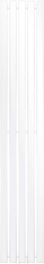 ECD Germany Radiador toallero para baño - 260 x 1600 mm - Blanco - Plano - Diseño vertical - Toallero de agua - Radiador de diseño - Calentador de baño - Calefaccion de pared - No eléctrico