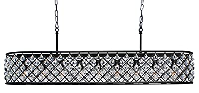 Cassiel 40 Inch Crystal Chandelier, Black