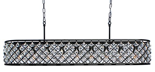 Black Crystal Pendant Nine Light Chandelier in US - 3