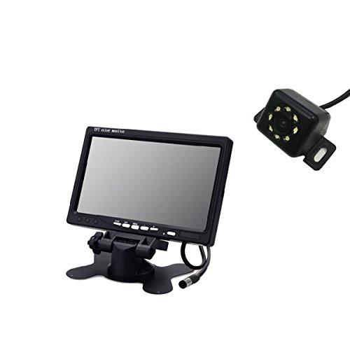 Belle Backup Camera and Monitor Kit: 7 Inch TFT LCD Digital Car Rear View Monitor + 8pcs Brighter LED Car Rear View Camera -