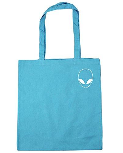 x38cm litres Alien Gym Bag 10 head pocket Blue Beach Shopping Tote Surf 42cm HippoWarehouse RFqpCC
