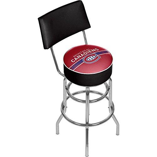 Trademark Gameroom NHL Montreal Canadiens Swivel Bar Stool with Back ()