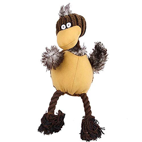 FOONEE Dog Squeek Toy, Pet Dog Cat Chewing Plush Ostrich Toy