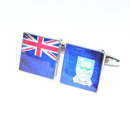 Boutons de manchette Drapeau Îles Falkland vieilli Split x2bocs232