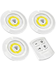 Set of 3 Wireless Adjustable LED Brightness Lights with Remote Control