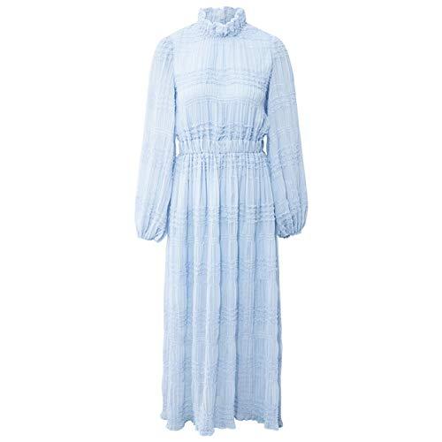 En Nouvelle Longues Mousseline Soie Été Printemps À Robe Manches De Taille Pour Jupe Bingqz Et 2019 Mince L Femmes 7vX6qxPx