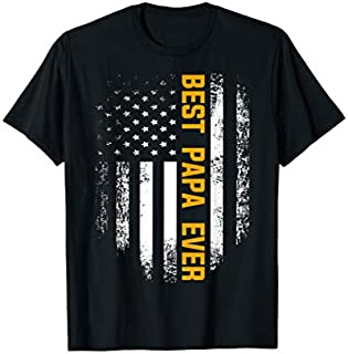 [Featured] Vintage Best Papa Ever With American Flag Father's Day Gift in ALL styles | Size S - 5XL
