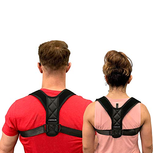 SF Goodlife Posture Corrector for Men and Women - Adjustable Comfortable Back Brace - Upright Shoulder Support - Healthy Natural Pain Relief