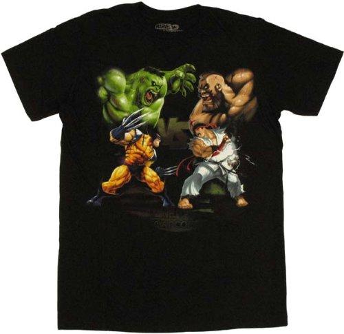 Marvel Vs Capcom - David Vs Goliath Soft T-Shirt - Large