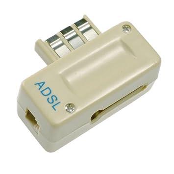Prise RJ11 24 Mpbs Metronic 495203 Filtre ADSL 2