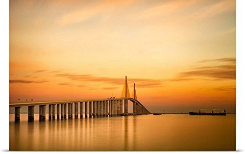 Great BIG Canvas Poster Print entitled Sunshine Skyway Bridge (Sunshine Skyway Bridge)