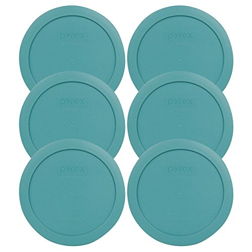 Turquoise Lid (Pyrex 7201-PC 4 Cup Round Turquoise Plastic Food Storage Lid- 6 Pack (container not included))