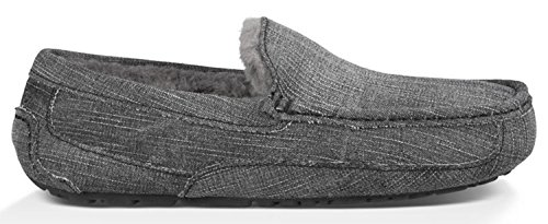 UGG Men's Ascot Washed Denim Black Denim Slipper 9 D (M) (Ascot Slipper)