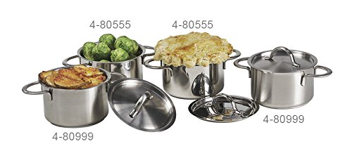 14 oz. Stainless Steel 4.4'' Mini Bistro Pot with Lid, Clipper Mill by GET 4-80999 (Qty,1)