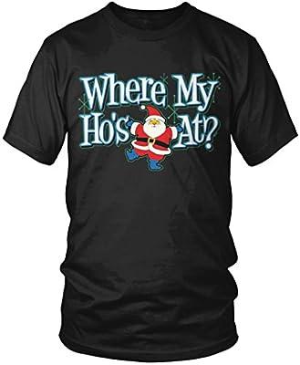 Where My Ho's At? Funny Christmas Men's T-shirt, Amdesco