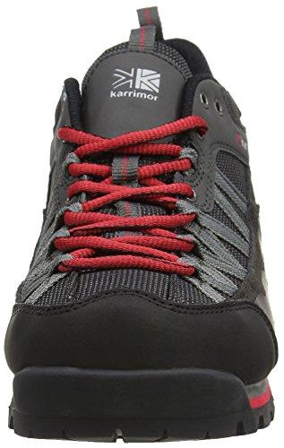 Karrimor Spike Low 2 Weathertite Black/Red Uk 10, Scarpe da Arrampicata Uomo, Nero (Black Red), 44 EU