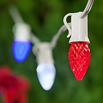 Amazon Com Outdoor Patriotic Lights Red White And