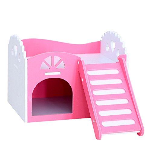 Whitelotous Wooden Hamster House Rat Mouse Exercise Natural Funny Hamster Nest Toy 41ASgdNDOnL