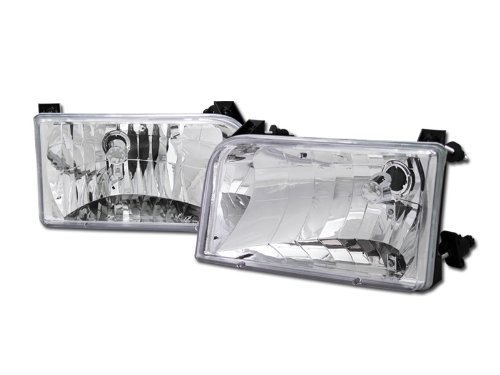 S T Racing Crystal Chrome Clear Head Lights Lamps Left Right Dy For 1992 1996 Ford F150 F250 F350 Bronco