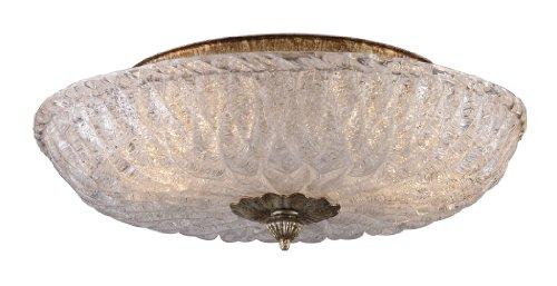 Providence Leaf Ceiling Light - Elk 1513/2 2-Light Flush Mount in Silver Leaf