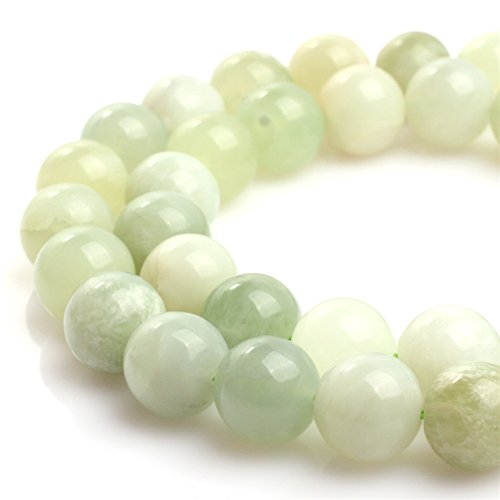 12mm Round Natural Hua Show Jade Gemstone Loose Beads For Jewelry Making Pale Light Green 15 1/2