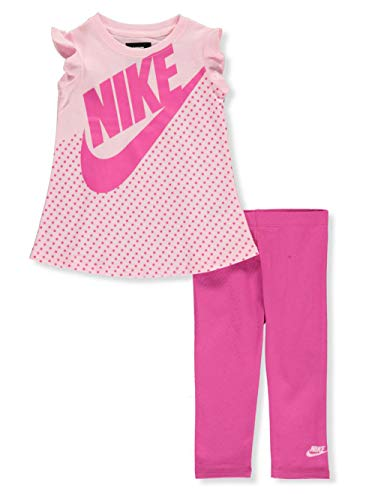 Nike Baby Girls' 2-Piece Leggings Set Outfit - Colors as Shown, 12 Months