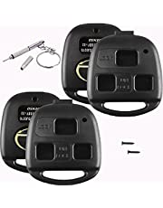 (2 PACK) Replacement for Lexus SHELL CASE key fob cover (NO CUTTING) fits IS300 GS300 GS400 RX300 RX3350 GS400 GX470 etc Keyless Entry Remote Control Repair Housing (cutting not required) - DETAILED INSTALLATION VIDEO INCLUDED
