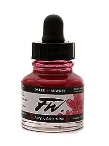 Daler Rowney FW Artists Acrylic Ink 29.5 ML Pot - Crimson