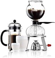 Bodum Pebo Cafetera de vacío, Negro, Centimeters: Amazon.es: Hogar