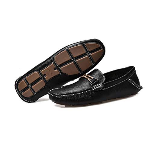 Zapatos Hombres Casuales Zapatos Perezosos Zapatos Mocasines Cuero on conducción Negro y de Slip Verano para Primavera de Hombres Zapatos de Nuevos de para Moda qtwvI5nBxx