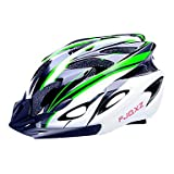 MCH- FJQXZ EPS+PC Green and Black Integrally-molded Cycling Helmet(18 Vents)