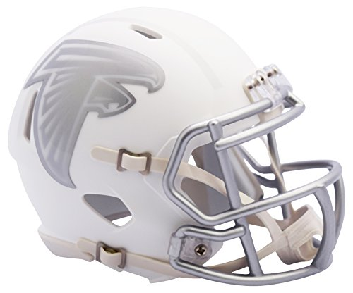 NFL Atlanta Falcons Riddell Ice Alternate Full Size Speed Replica, Silver, Small by Riddell