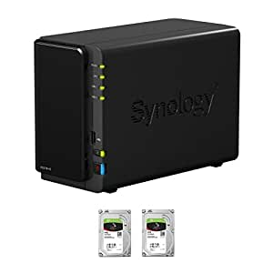Synology Disk Station DS216+II 2-Bay NAS, 2x4TB NAS HDD Installed, RAID 1 Mirror Built, EV-DS216+II8N, w/ All-Systems-Go by evodo