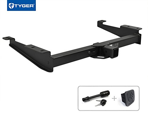 "Tyger Auto TG-HC3C0278 Class 3 Trailer Hitch Combo with 2"" Receiver Cover & Pin Lock for 1996-2018 Chevy Express/GMC Savana (Exclude Cutaway Models)"
