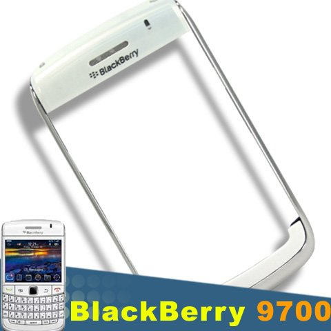 ORIGINAL GENUINE OEM BLACKBERRY BOLD 9700 PEARL WHITE TOP COVER+ BEZEL HOUSING FACEPLATE FASCIA PLATE PANEL COVER CASE REPAIR REPLACE REPLACEMENT (Covers Fascia White Phone)