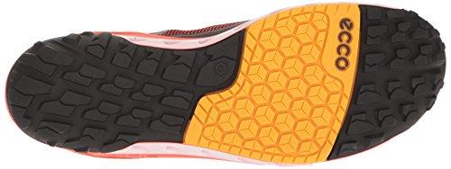 Ecco Mens Biom Onderneming Textiel Gore-tex Wandelschoen Zwart / Brand / Fanta
