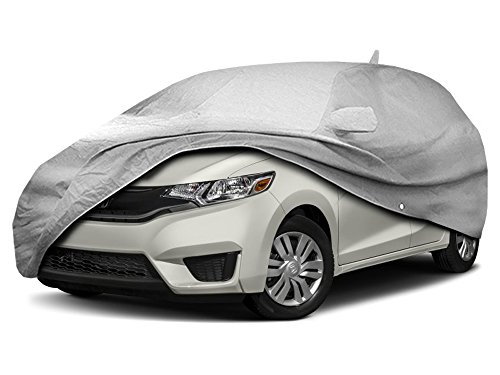 CarsCover Custom Fit 2009-2019 Honda Fit Hatchback Wagon Car Cover for 5 Layer Heavy Duty Waterproof Ultrashield
