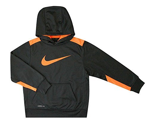 Nike Youth Boy's KO 3.0 Training Pullover Hoodie, Anthracite Orange (Medium) by NIKE