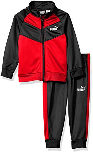 PUMA Toddler Boys' 2 Piece Tricot Set, Ribbon Red 4T ()