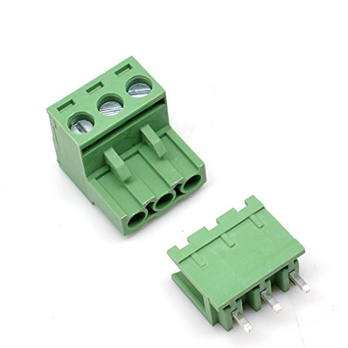20 Set 3-Pin 5.08mm Pitch Male Female PCB Screw Terminal Block (3 Pin Terminal Block)