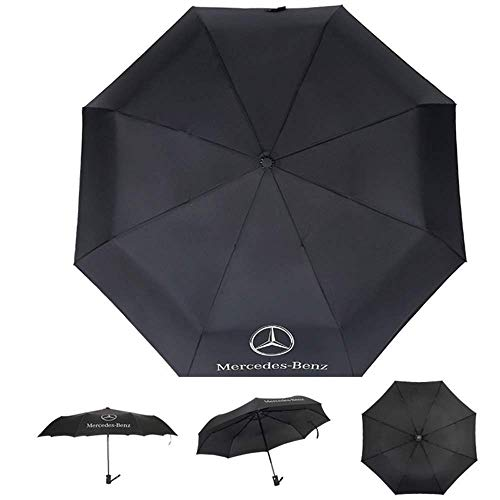 Jhaze AUTO Open Large Folding Umbrella Windproof Sunshade with Car Logo for Mercedes-Benz
