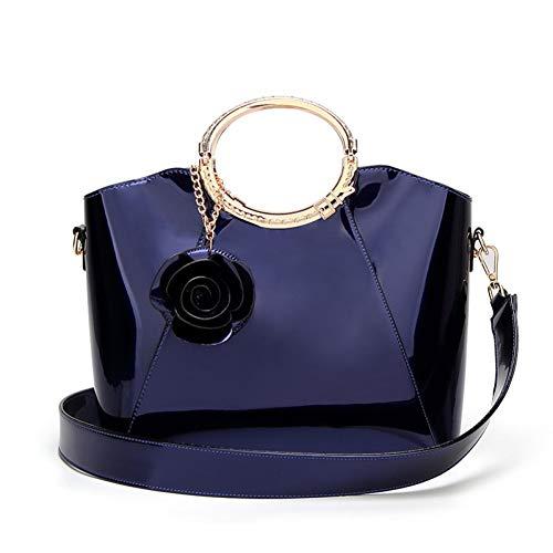 Borsa Nuova Materiale Vernice Moda Tracolla Messenger Sposa Donna Jixdf Blue Pu 7wCqw
