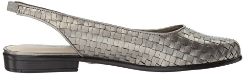 Ballet Trotters Women's Pewter Lucy Flat zw6EPC8xfq
