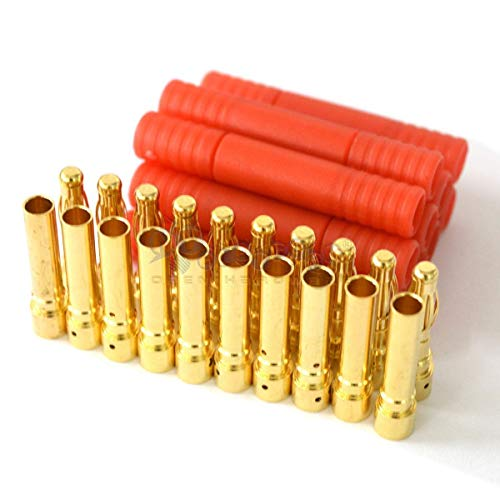 Hobbypower 10x Male Female 3.5mm Gold Banana Bullet Connector Plugs With Housing